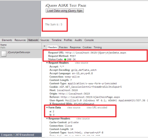 jQuery Ajax in Action with ASP.Net aspx Page