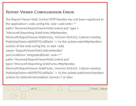 RDLC : Web.config Settings for ReportViewer