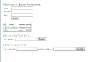 Welcome to EntityFramework ASP.Net C# Web