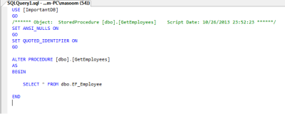 StoredProcedure for EF in C#
