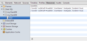 WebSQL in Chrome Browser - DB and Tables