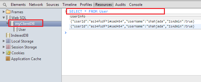 WebSQL : Welcome to client side DB - Part1 (3/3)