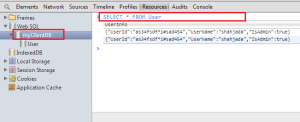 WebSQL in Chrome Browser - SQL Queries